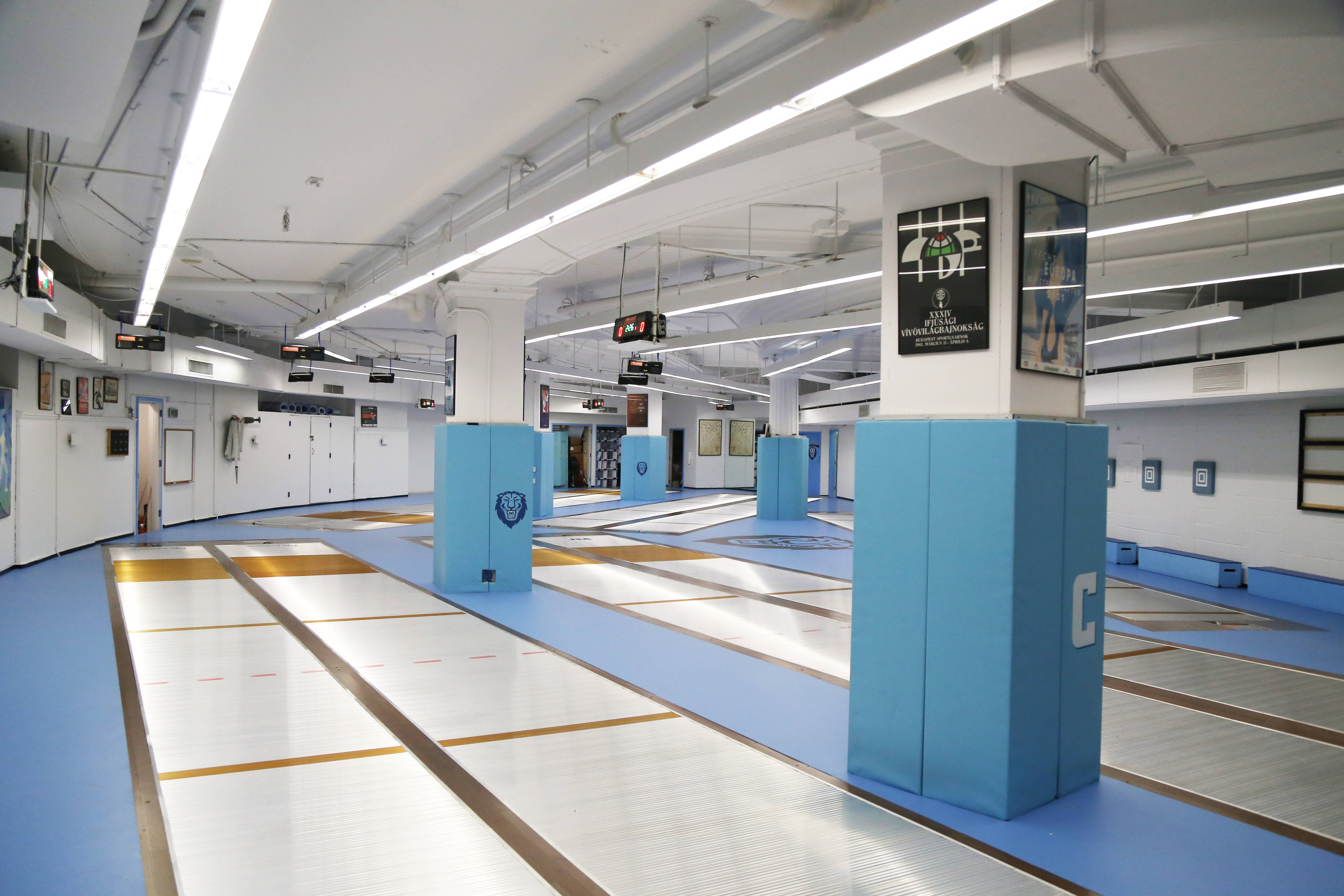 Columbia Opens Brand-New One-of-a-Kind Fencing Room
